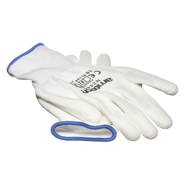Am-Tech Light Duty PU Coated Work Gloves White XL Size 10
