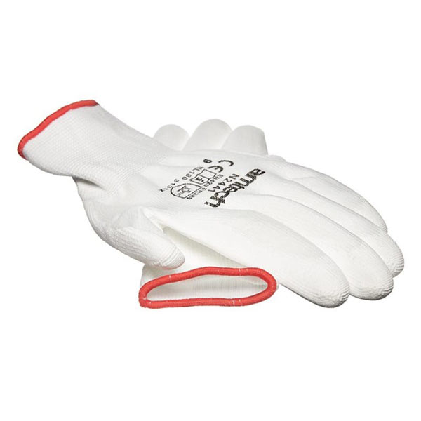 Am-Tech Light Duty PU Coated Work Gloves White Large Size 9
