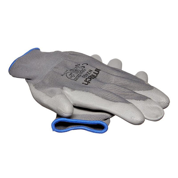 Am-Tech Light Duty PU Coated Palm Gloves Grey XL Size 10