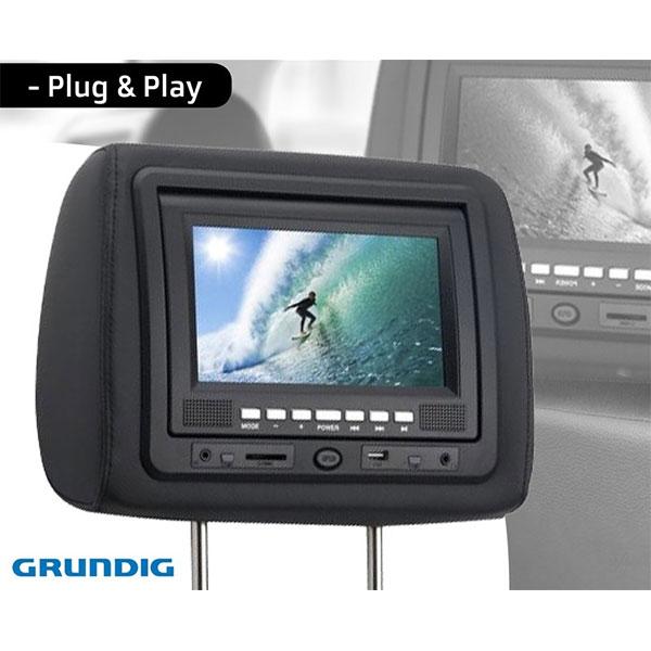 Grunding Headrest Dvd Player Tft Display Euro Car Parts Ie