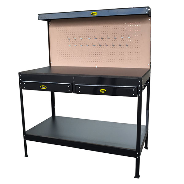 Heavy Duty WorkBench With Draws & Backboard