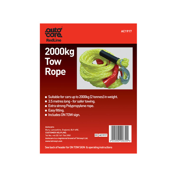 Autocare Tow Rope 2000Kg
