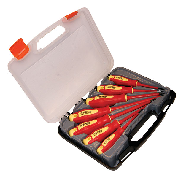 Stag Tools 7pc VDE Screwdriver Set - Red & Yellow