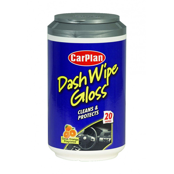 Carplan Gloss Dash Cleaner Wipes -  Mini Tub x20