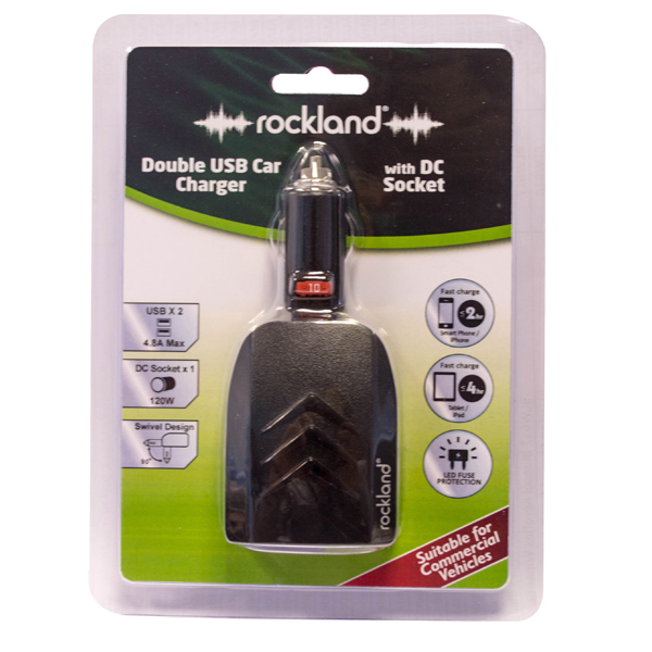 Rockland ROCKLAND DOUBLE USB DC CHARGER