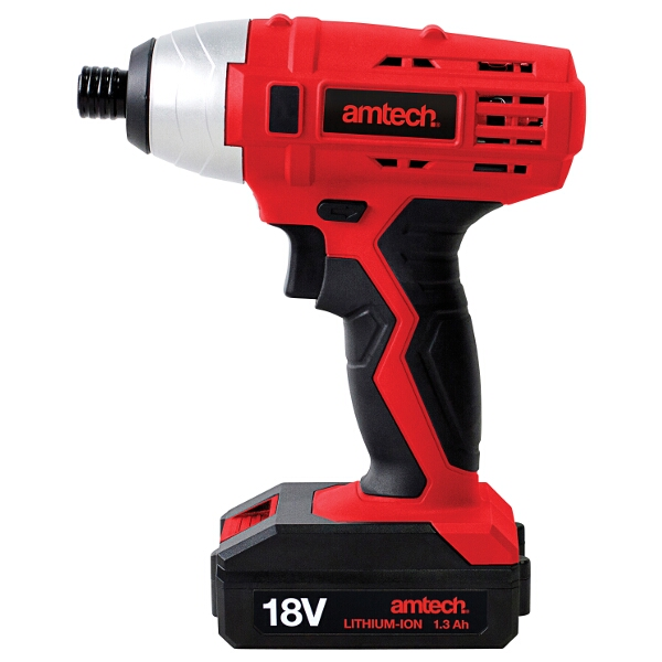 "Am-Tech Cordless 18v Impact Driver (1/4"") + Battery & Charger"