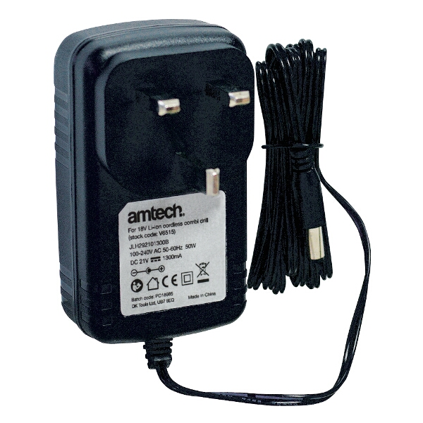 Am-Tech 18v 1hr Rapid Battery Charger