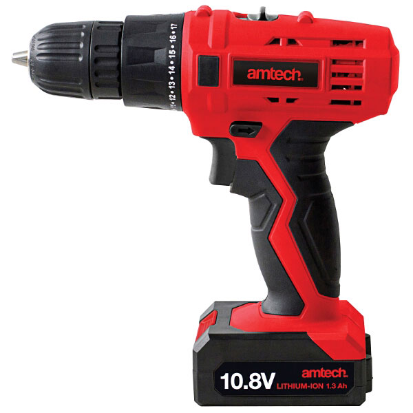 Am-Tech Cordless 10.8V Drill & Driver + Battery & Charger