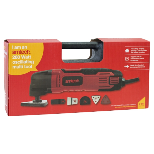 Am-Tech Corded 280W Oscillating Multi Tool