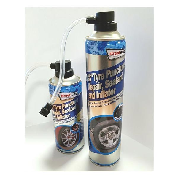 Streetwize PDQ of 12 650ml Tyre sealer/inflator for 4x4+