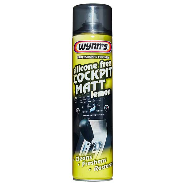 Wynns Cockpit Matt Lemon 600 ml (Silicon Free)