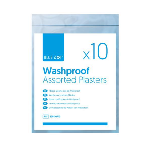 Assorted Washproof Plasters (Bag 10)