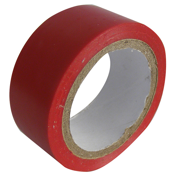 Pearl 5 CardsTAPE INSULATING PVC RED 19MM X 4.5