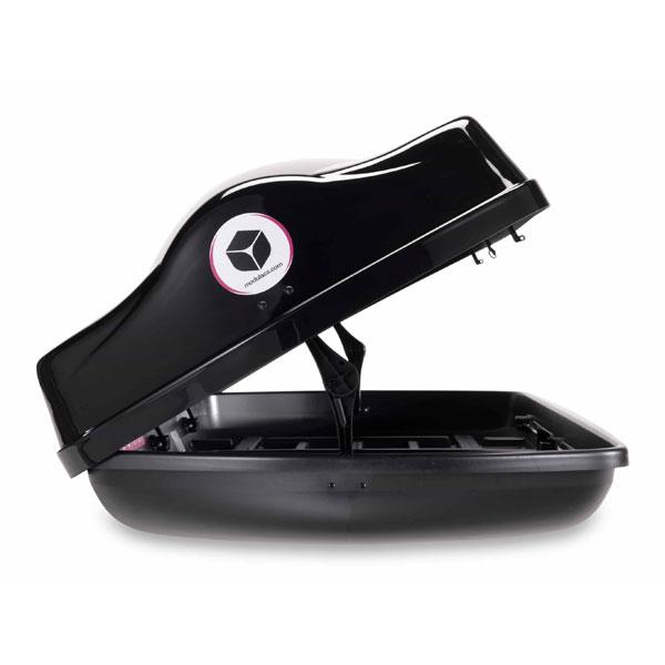 Modula Ciao Gloss Black Roof Box 340ltr | Euro Car Parts