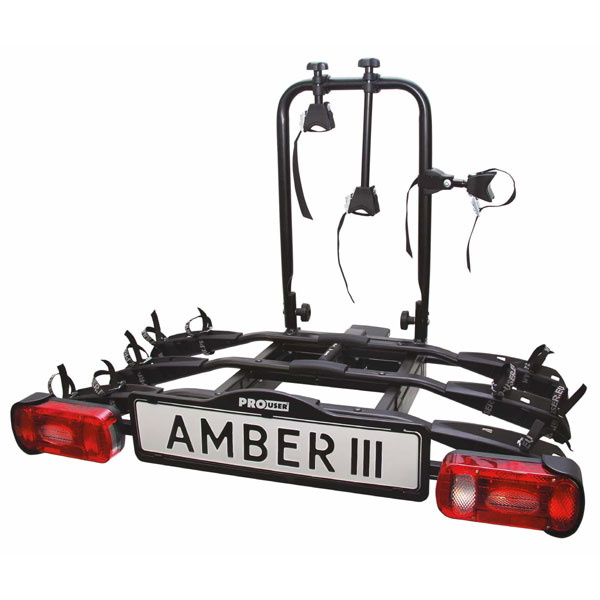 Pro-User Towing Ball Bike Carrier Amber III (3 Bike Capacity)