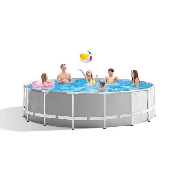 Intex Prism Metal Frame Swimming Pool (Round) - 4.57 x 1.22 m (15 ft) - AGP