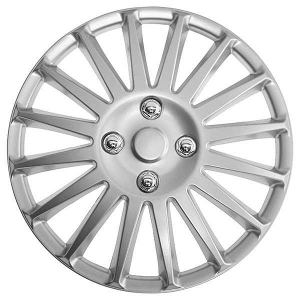 Top Tech Speed 13 Inch Wheel Trims Silver (Set of 4)