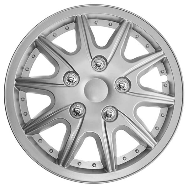 Top Tech Revolution 13 Inch Wheel Trims Silver (Set of 4)