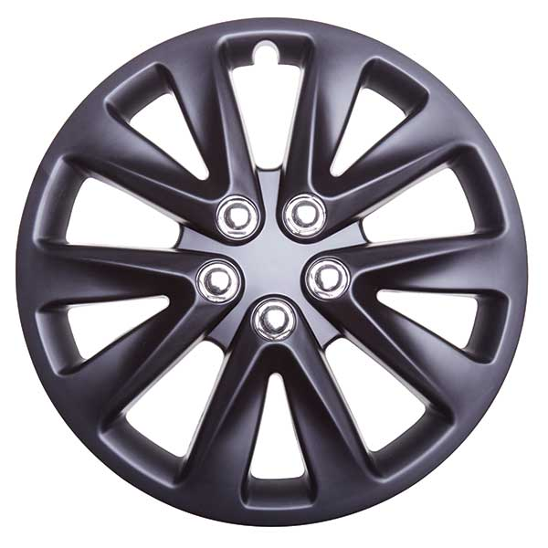 Top Tech Velocity 14 Inch Boxed Wheel Trim Matt Black (Set of 4)