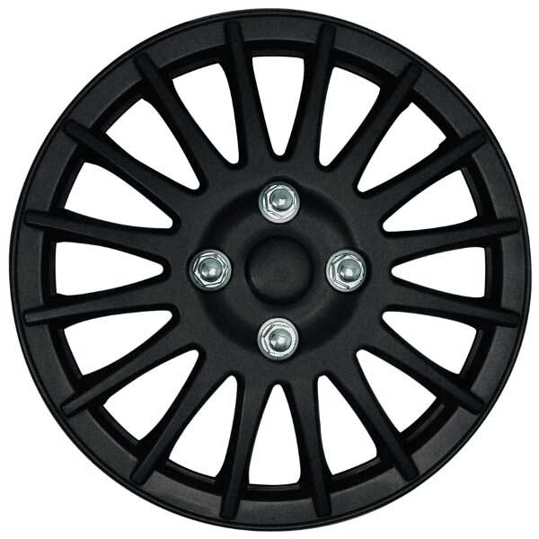 Streetwize Lightning 13 Inch Wheel Trim Matt Black (Set of 4)
