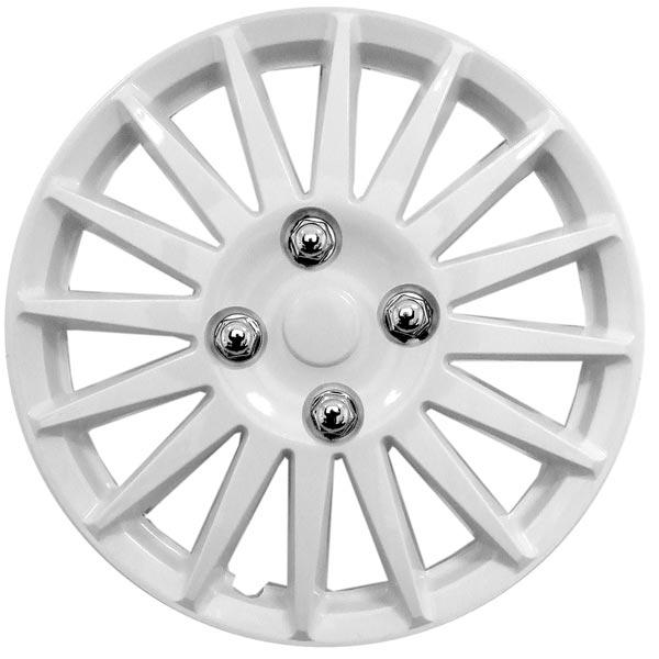 "Streetwize Car Wheel Trim Set 14/"" Black Red Ring Rims Set Of 4 Hub Caps Covers"