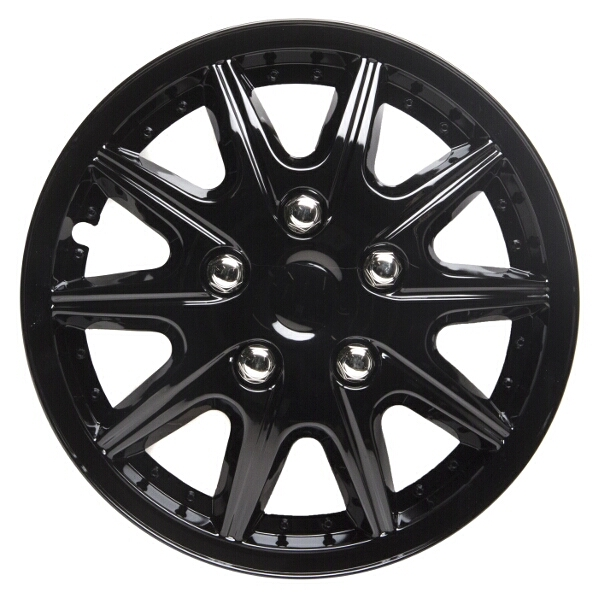 Top Tech Revolution 15 Inch Wheel Trims Gloss Black (Set of 4)