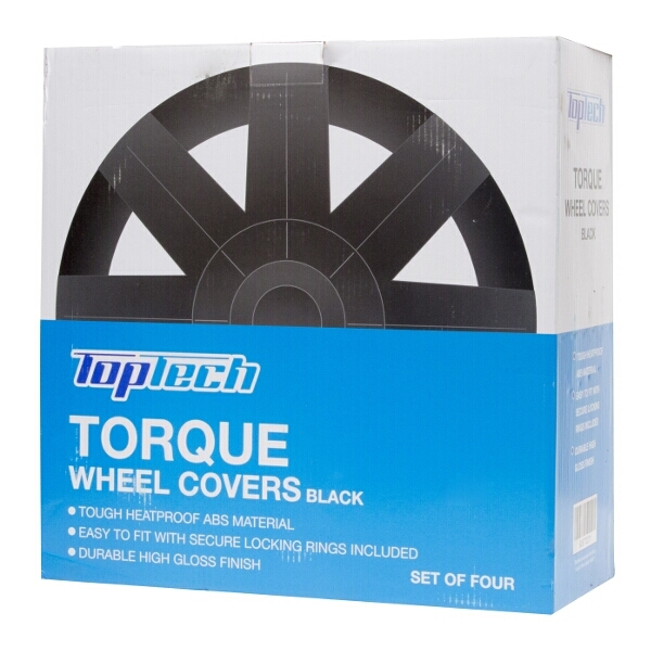 Top Tech Torque 13 Inch Wheel Trims Gloss Black (Set of 4)