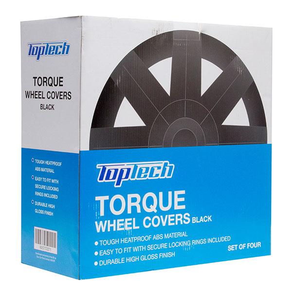Top Tech Torque 14 Inch Wheel Trims Gloss Black (Set of 4)