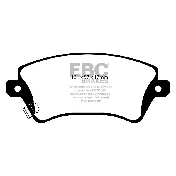 EBC Yellow Stuff High Performance Brake Pad Set
