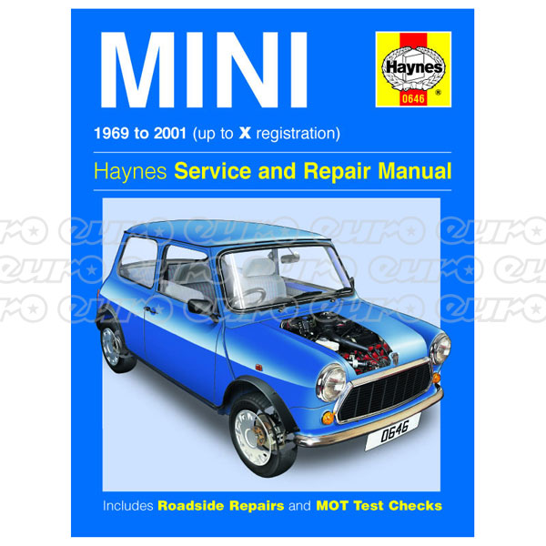 Haynes Workshop Manual Mini (69 - 01) up to X