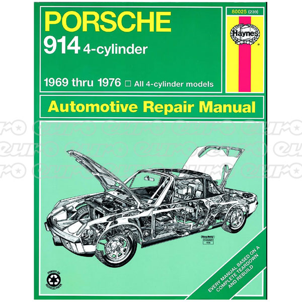 Haynes Workshop Manual Porsche 914 (4 Clyinder) (69 - 76)