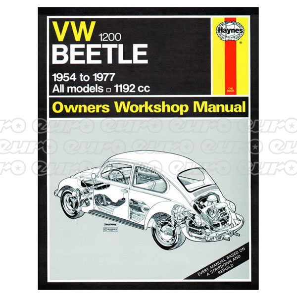 Haynes Workshop Manual VW Beetle 1200 (54 - 77) up to S