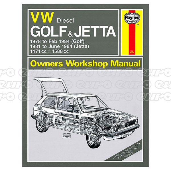 Haynes Workshop Manual VW Golf & Jetta Mk 1 Diesel (78 - 84) up to A