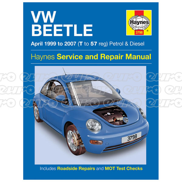 Haynes Workshop Manual VW Beetle Petrol & Diesel (Apr 99 - 07) T to 57