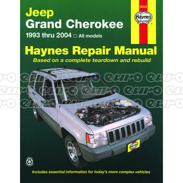 Haynes Workshop Manual Jeep Grand Cherokee (93 - 04) (USA)