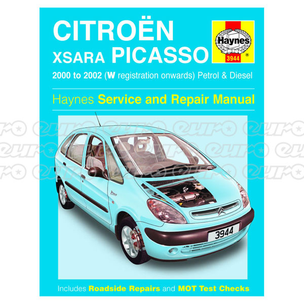 Workshop Manual Citroen Xsara Picasso Petrol  Diesel 00  02 W
