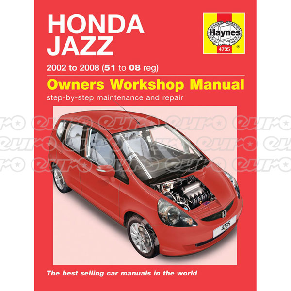 Haynes Workshop Manual Honda Jazz (02 - 08) 51 to 08