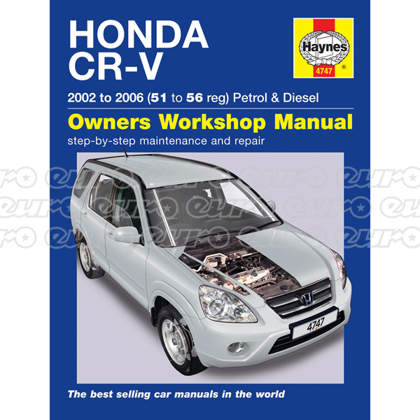 Haynes Workshop Manual Honda CR-V Petrol & Diesel (02 - 06) 51 to 56
