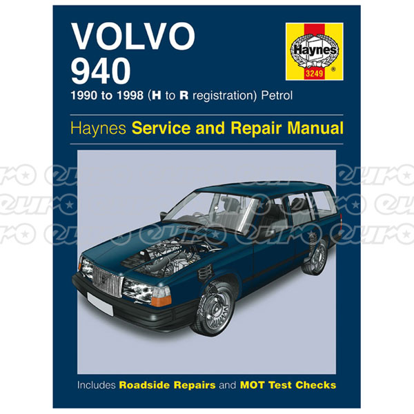 Haynes Workshop Manual Volvo 940 Petrol (90 - 96) H to N