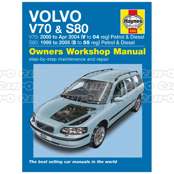Haynes Workshop Manual Volvo V70 / S80 Petrol & Diesel (98 - 05) S to 55