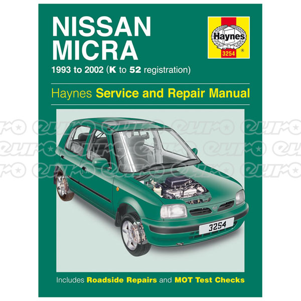 Haynes Workshop Manual Nissan Micra (93 - 02) K to 52