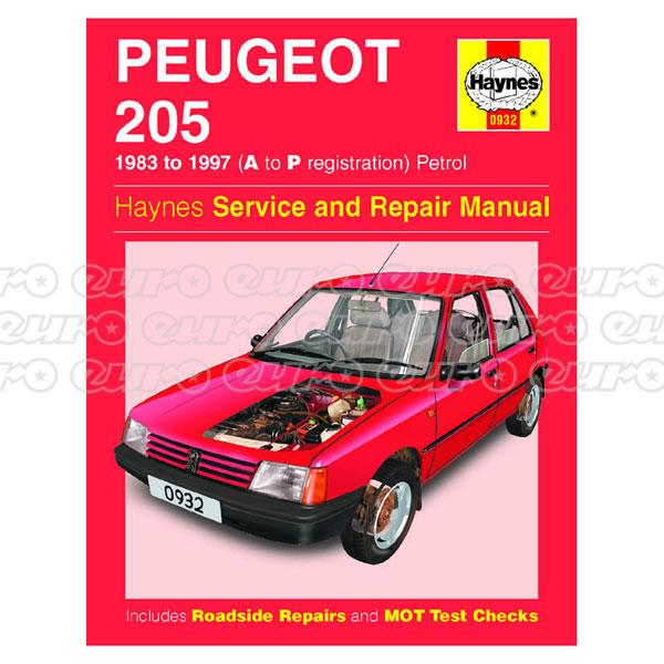 haynes workshop manual peugeot 205 petrol 83 97 a to p. Black Bedroom Furniture Sets. Home Design Ideas