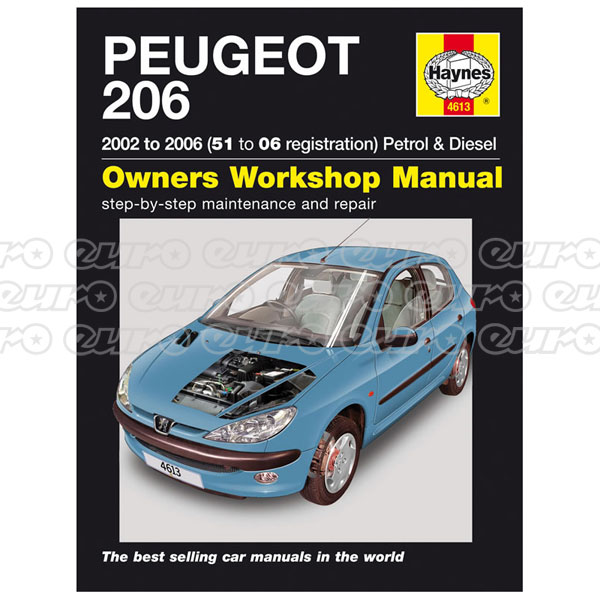 Haynes Workshop Manual Peugeot 206 Petrol & Diesel (02 - 06) 51 to 06