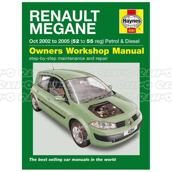 Haynes Workshop Manual Renault Megane Petrol & Diesel (Oct 02 - 05) 52 to 55