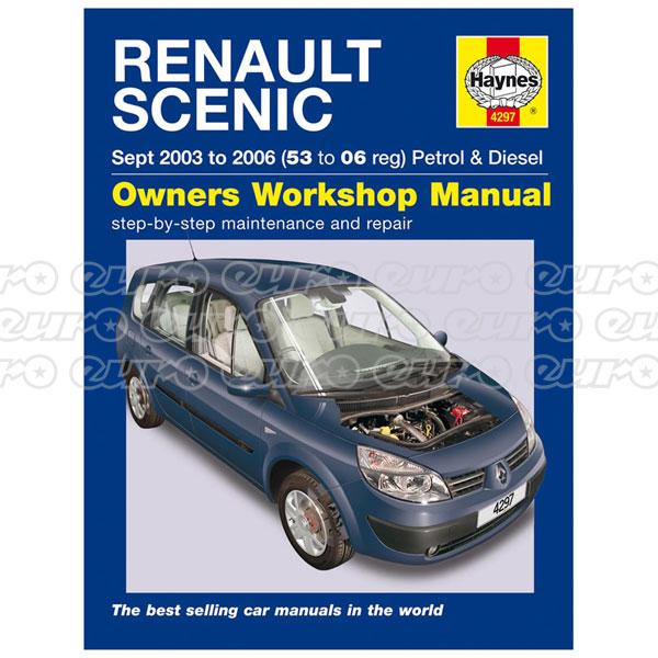 haynes workshop manual renault scenic petrol diesel sept 03 06 rh eurocarparts com Renault Scenic II Renault Scenic Automatic
