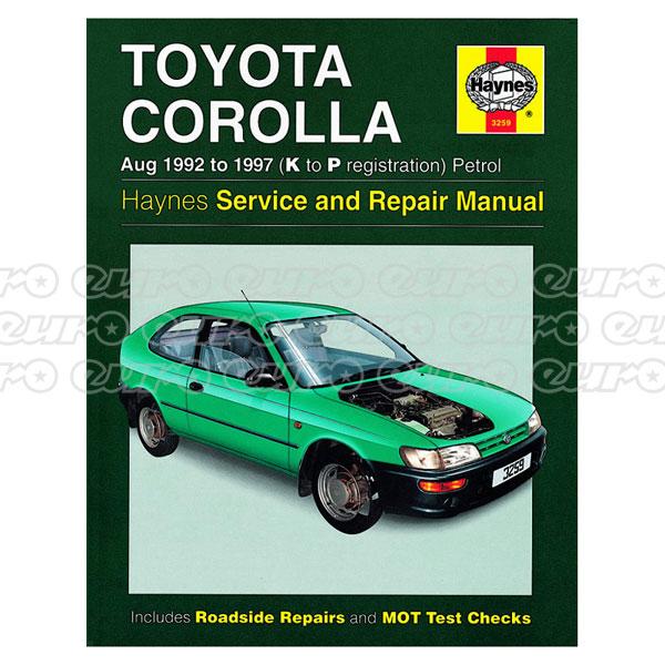 Haynes Workshop Manual Toyota Corolla Petrol (Aug 92 - 97) K to P