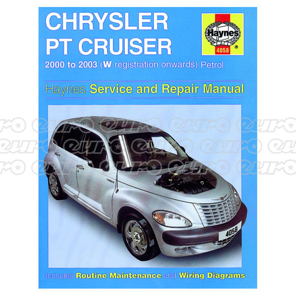 Haynes Workshop Manual Chrysler PT Cruiser Petrol (00 - 03) W to 53