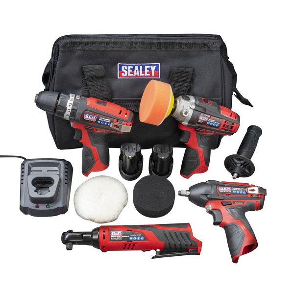 Sealey CP1200 4pc 12v Power Tool Kit