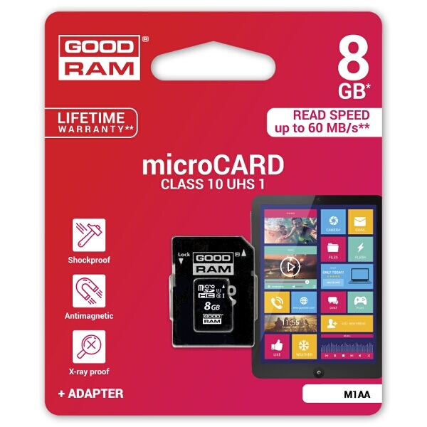 Goodram Class 10 Micro SD Card 8GB