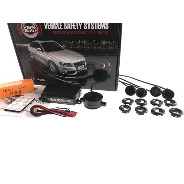 Park Safe Front 4 Eye Parking sensor Kit- With Audible Buzzer Colour Gloss